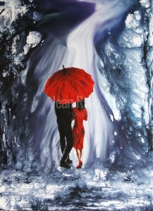 IN RED UNDER THE RED UMBRELLA (PRINTS)