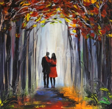 Romantic walk in the Forest